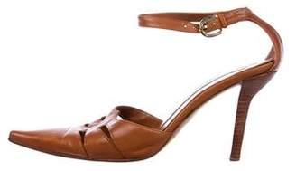 Sergio Rossi Leather Ankle Strap Pumps