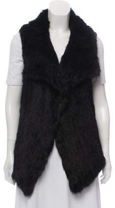Calypso Shawl-Lapel Fur Vest