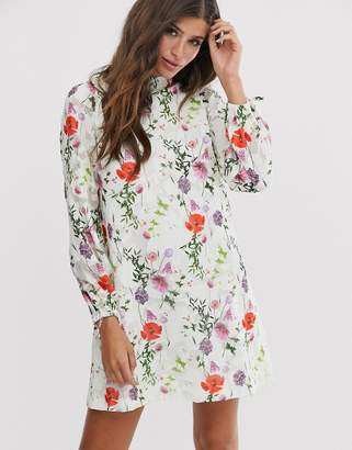 Ted Baker Imane tunic dress in hedgerow print