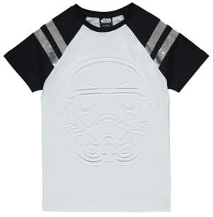 BOSS George Star Wars Stormtrooper Embossed T-Shirt