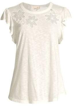 Rebecca Taylor Emilie Embroidered Tee