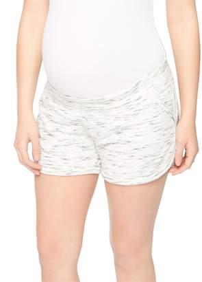 Motherhood Maternity Under Belly Spacedye Maternity Shorts