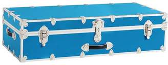 Pottery Barn Teen Dorm Trunk, Light Blue with Silver, Trundle