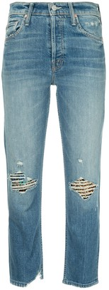 Mother faded straight-leg jeans