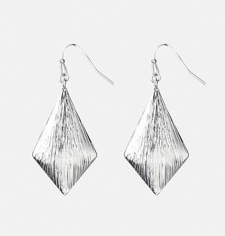 Avenue Textured Triangle Drop Earrings