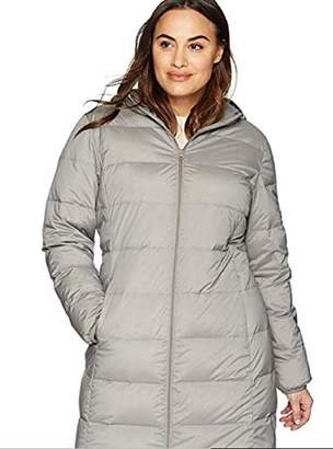 BEIGE The Plus Project Women's Plus Size Lightweight Down Puffer Jacket with Hood 2X-Large