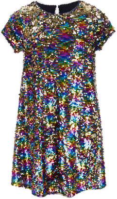 Beautees Big Girls Reversible Sequin Swing Dress