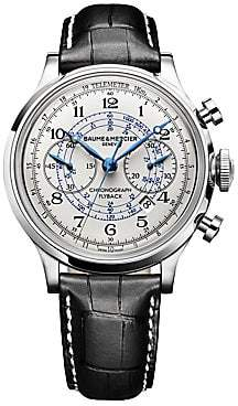Baume & Mercier Baume& Mercier Baume& Mercier Men's Capeland 10006 Flyback Stainless Steel& Alligator Strap Chronograph Watch