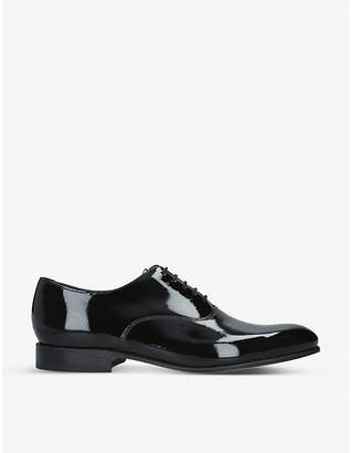 Barker Madeley patent leather Oxford shoes