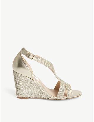 LK Bennett Mali metallic leather heeled sandals