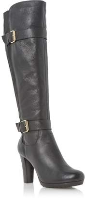 Dune LADIES SOCIAL - Cleated Platform Sole Leather Knee High Boot