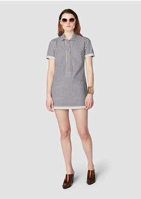 Derek Lam 10 Crosby Short Sleeve Utility Shirt Dress