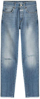 Closed Distressed Straight Leg Jeans