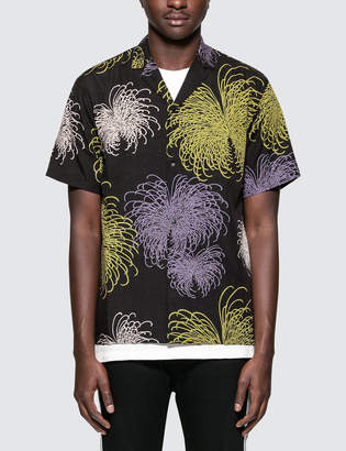 SASQUATCHfabrix. Fireworks Notched Collar H/S Shirt