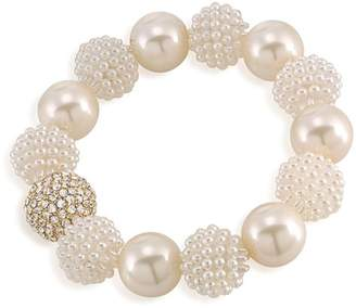 Carolee Simulated Pearl Beaded Bracelet