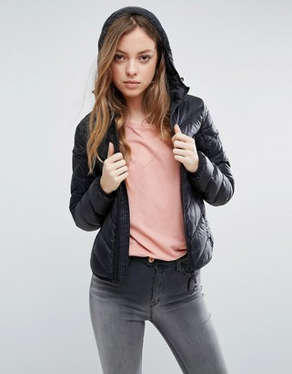 G-Star Alaska Down Feather Jacket with Hood $277 thestylecure.com