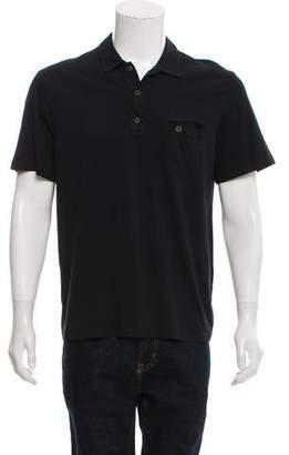 Prada Woven Polo Shirt