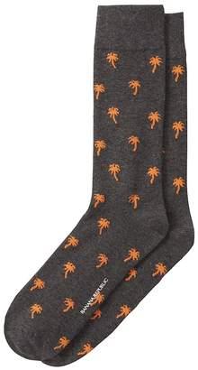 Banana Republic Palm Tree Sock