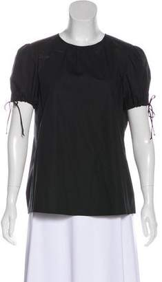 Theory Ruche-Accented Short Sleeve Top