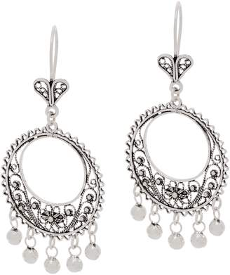 Artisan Crafted Sterling Silver Filigree Chandelier Earrings
