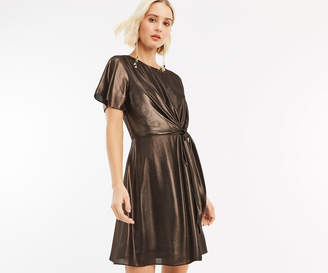 Oasis CHIFFON TIE SKATER DRESS
