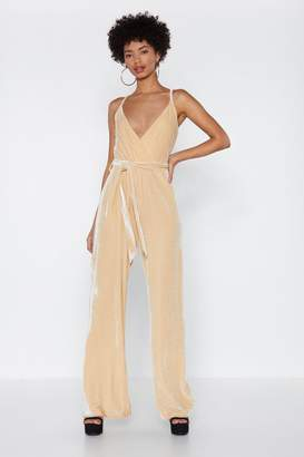 Nasty Gal Stay in Touch Velvet Jumpsuit