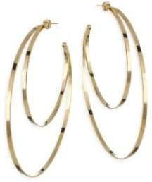 Jennifer Zeuner Jewelry Zume Double Hoop 18K Yellow Vermeil Earrings