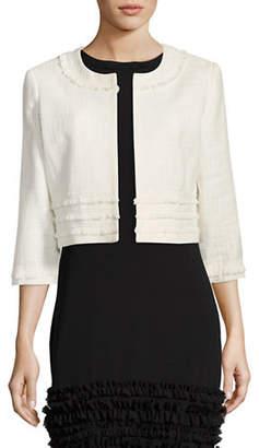 Karl Lagerfeld PARIS Tweed Cropped Jacket Topper