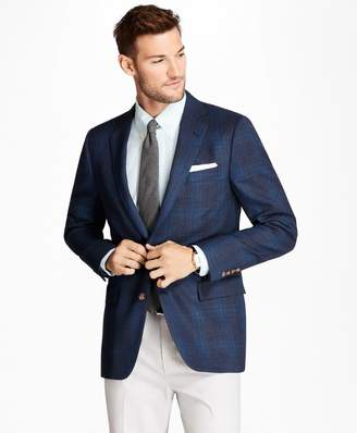 Brooks Brothers Regent Fit Plaid Hopsack Sport Coat