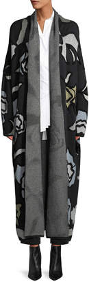 Christian Wijnants Kavia Open-Front Floral-Jacquard Long Cardigan