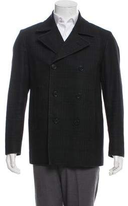 Theory Double-Breasted Wool Peacoat