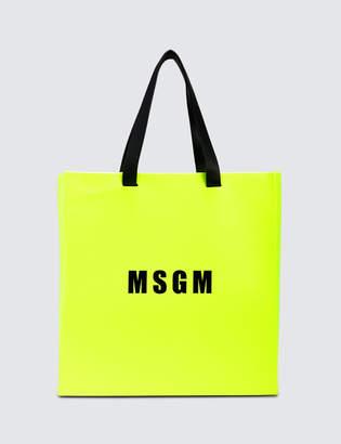 MSGM Macro Logo Shopping Bag