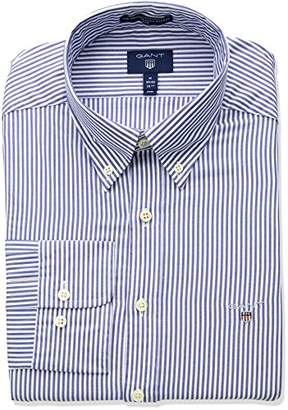 Gant Men's Slim Broadcloth Banker Stripe Shirt