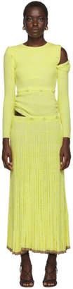 CHRISTOPHER ESBER Yellow Deconstruct Long Sleeve Dress