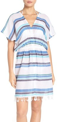 Women's Tommy Bahama Stripe Gauze Cover-Up Dress $88 thestylecure.com