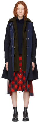 Sacai Navy Oxford Coat