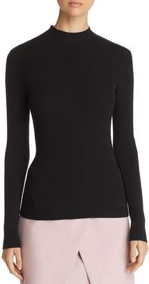 Emporio Armani High Neck Long Sleeve Black Knit