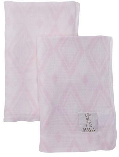 Little Giraffe Indigo Muslin Swaddle Blanket - Pack of 2