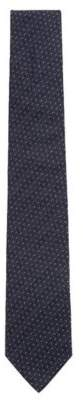 BOSS Hugo Rectangular-patterned tie in silk jacquard One Size Open Blue