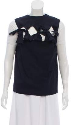 Maison Rabih Kayrouz Bow-Accented Sleeveless Top