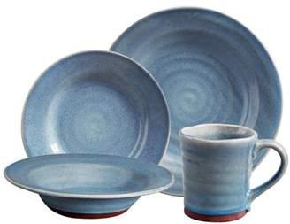 Gibson Home Gibson Elite Mariani Stoneware Kitchen Dinnerware Set (16 Pieces), Blue