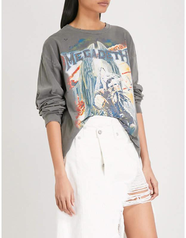 Megadeth cotton-jersey sweatshirt
