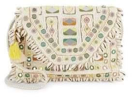 Antik Batik Fringed Trim Cotton Shoulder Bag