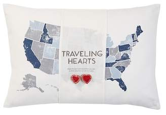 "Nordstrom Rack Traveling Hearts Pillow - 14""x20\"""