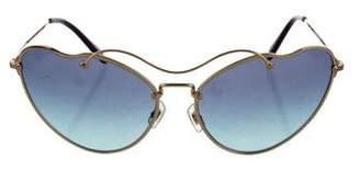 Miu Miu Butterfly Tinted Sunglasses