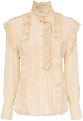 Chloé ruffle detail silk blouse