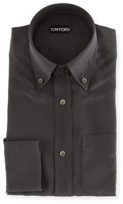 Tom Ford Solid Silk Dress Shirt