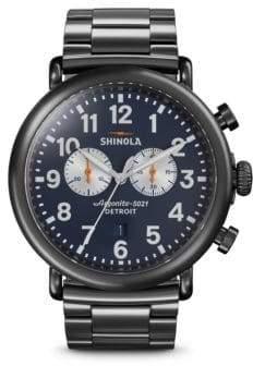 Shinola Stainless Steel Runwell Strap Chronograph Watch