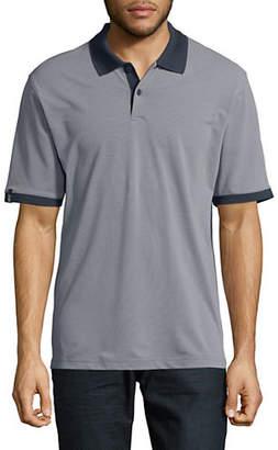 Haggar Birdseye Short-Sleeve Polo