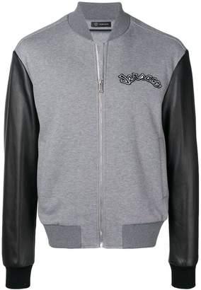 Versace two tone bomber jacket